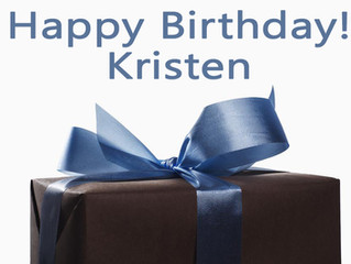 It's Kristen's Birthday!