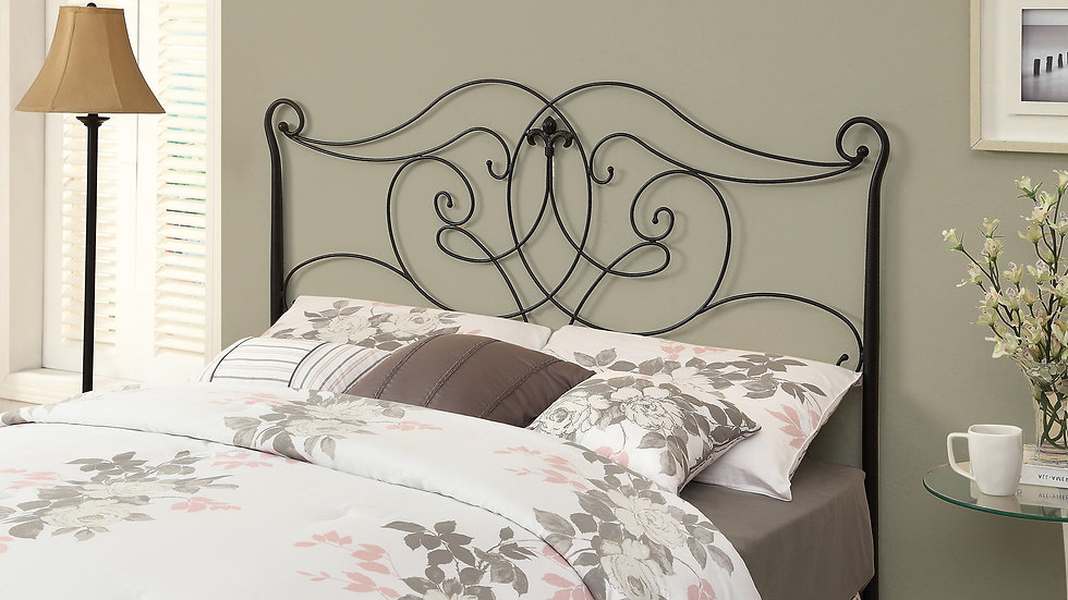 "50"" Satin Metal  Headboard for Queen or Full Size Bed"