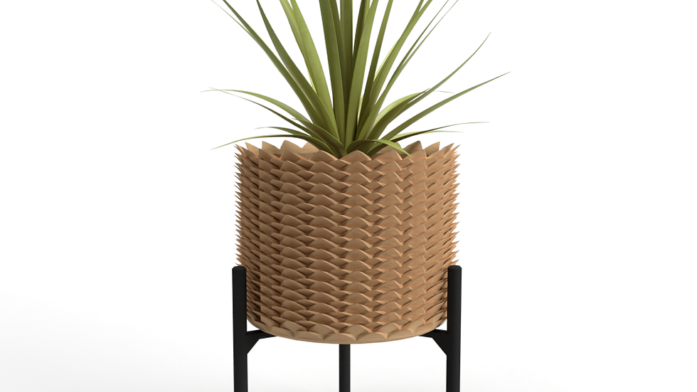 "Pineapple Medium 5"" Planter + Support"