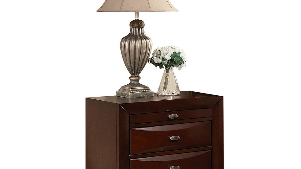 Bedside unit - Espresso Rubber Wood Elegant