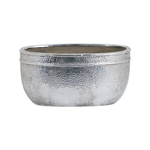 Metallic Ceramic Oval Planter