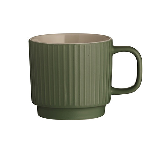 Set of Mason Cash Embossed Line Mugs.