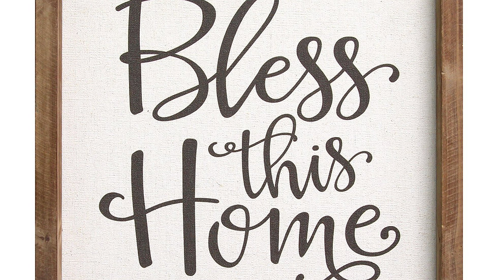 "12"" X 1"" X 12"" Multi-color ""Bless This Home"" Wall"