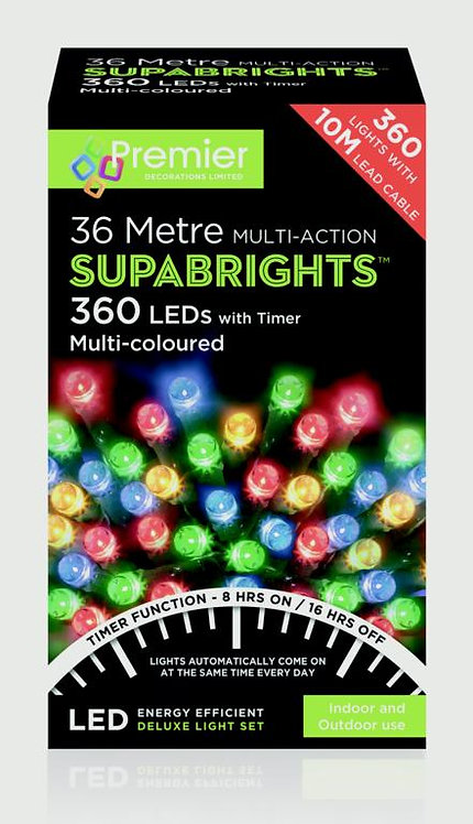 Premier Multi-Action Supabrights With Timer Multi-colour