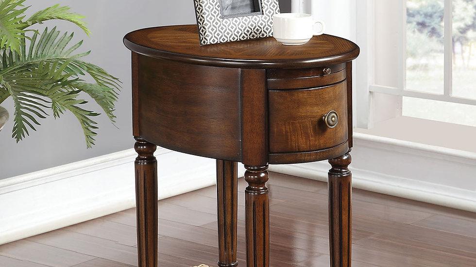 """16"""" X 22"""" X 24"""" Dark Oak Rubber Wood Side Table"""