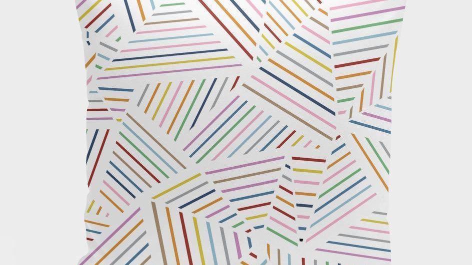 Ab Linear Rainbow Zoom  Cushion/Pillow
