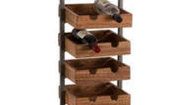 Live Edge Collection 10 Bottle Wine Rack