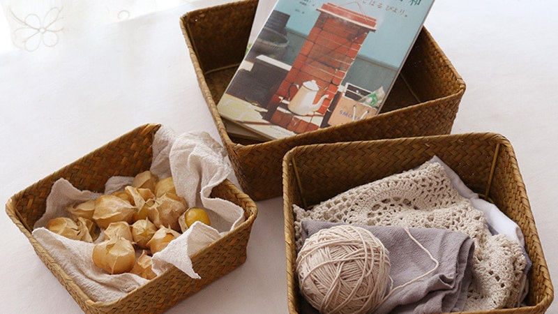 Wicker Basket Storage Box