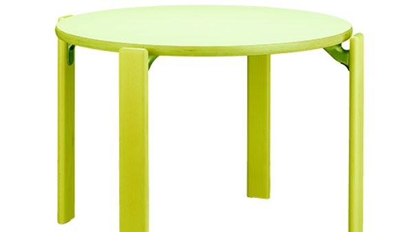 Children Table - Swiss Design Classic - Solid Beech Wood (Green)