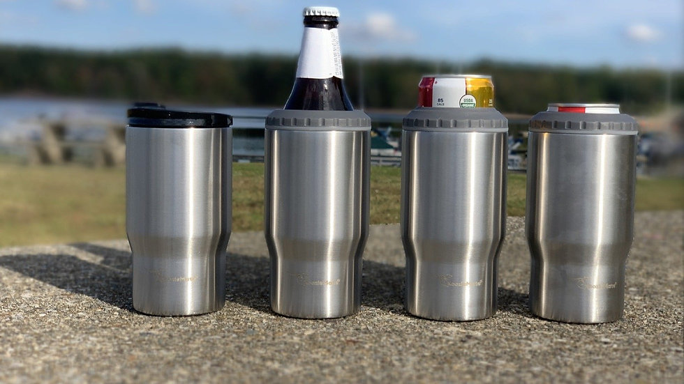 Quattro- 4 in 1 Stainless Can/Bottle Cooler/Drink