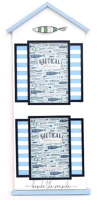 Sea Shore Beach Hut Fish Double Photo Frames
