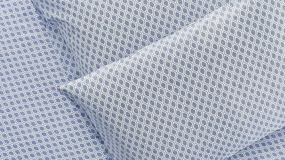 100% Supima Cotton, 400 Thread Count Percale Ogee Print Duvet Set