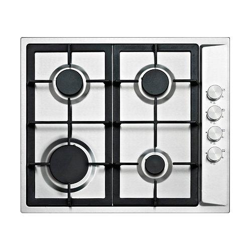 Kitchenplus 4 Burner Stainless Steel Gas Hob 600mm