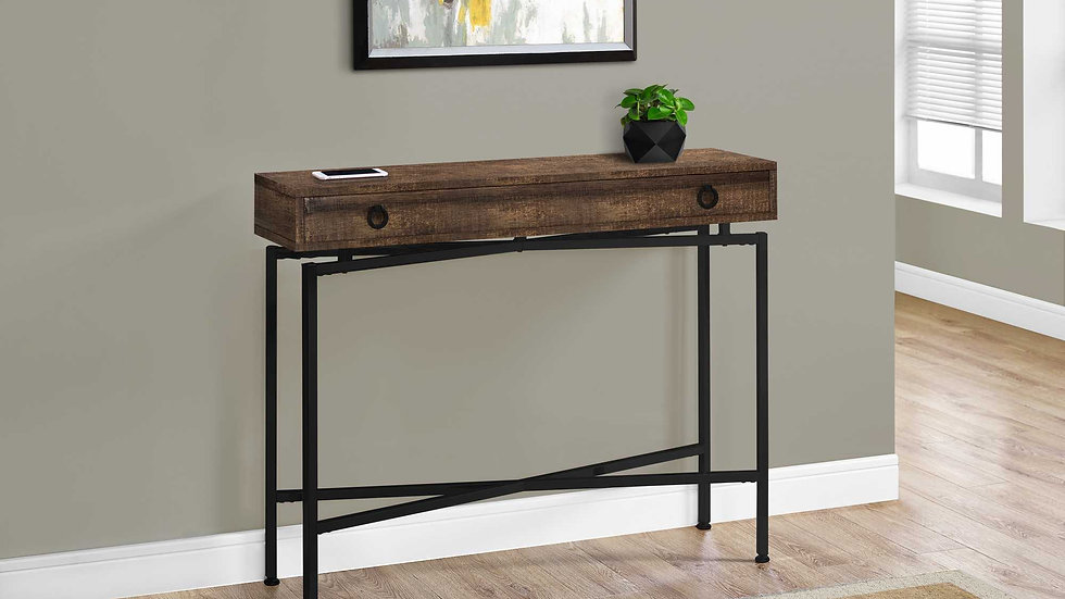 """32.5"""" Particle Board Accent Table with Black Legs"""