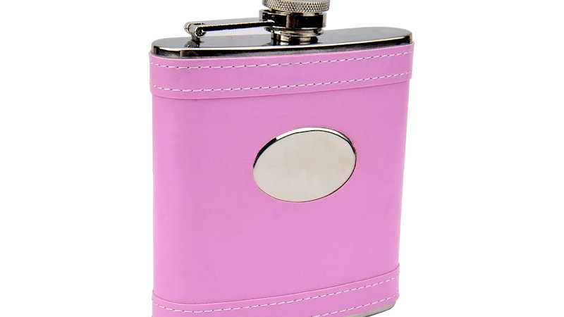 Pink 6oz Flask