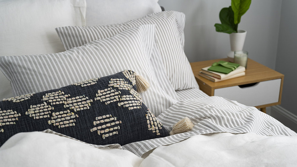 100% Supima Cotton, 400 Thread Count Percale Stripe Sheet Set