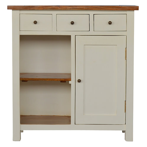 Country Two Tone Kitchen Storage Cabinet