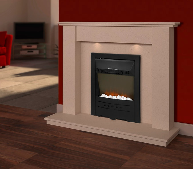 SupaWarm Electric Stone Effect Fire installation