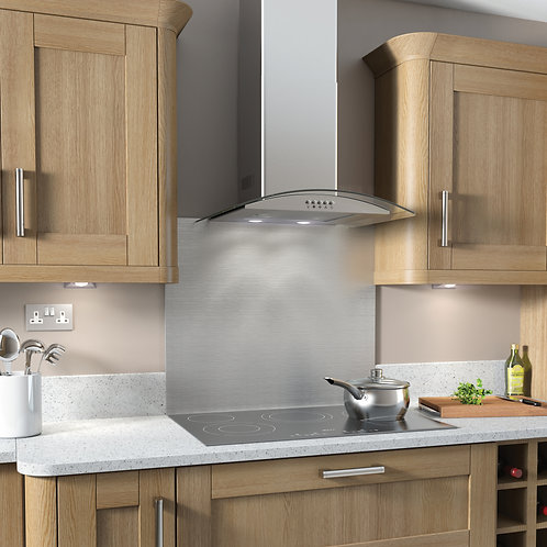 Kitchenplus Curved Glass Cooker Hood in use