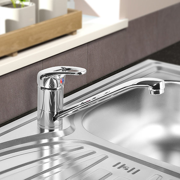 SP Quilon Mono Mixer Sink Tap in use