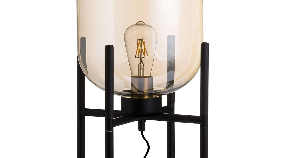Vintage Industrial Glass Glow Lamp