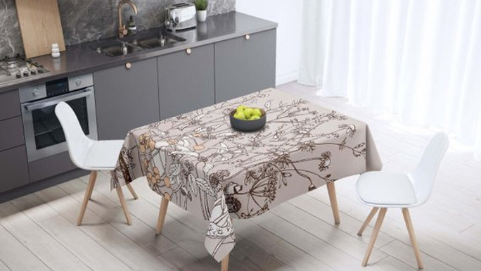 Floral Kitchen Table Cloth Housewarming Gift For