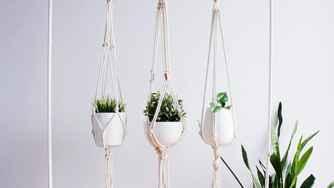 Macrame Plant Hanger, Hanging Planter, Indoor,