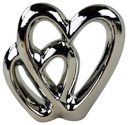Double Heart Ornaments