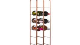 Industrial Inspired Copper Finished  Wine Holder