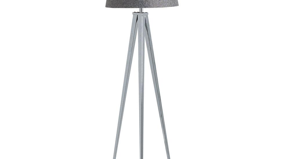 The Genoa Chrome Tripod Floor Lamp