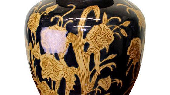 Ceramic Embossed Vase, Regal Design