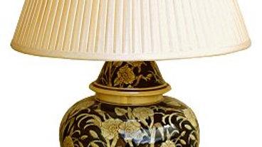Ceramic Embossed Lamp, Regal Design - 67cm