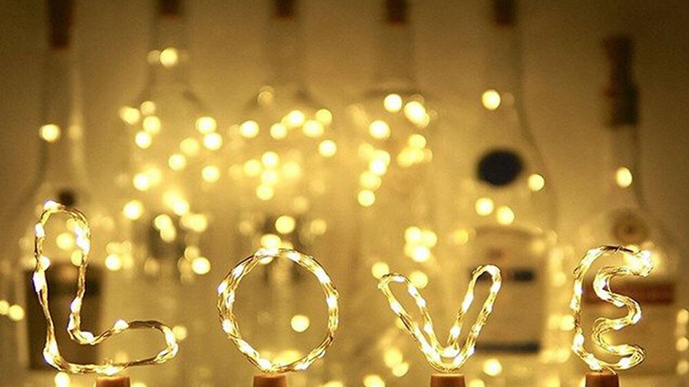 2M 20LED Copper String with Cork Shaped Decorated