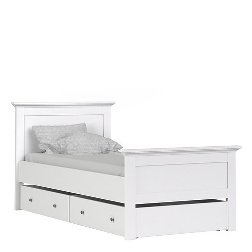 Paris Underbed Storage Drawer for Single Bed in use