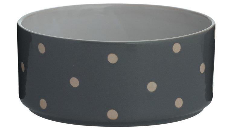 Cole and Mason Polka Dot Dog Bowl