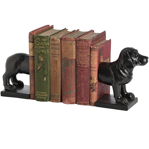Dog Book Ends in use