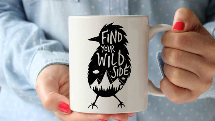Find Your Wild Side Bird Coffee Mug | Funny