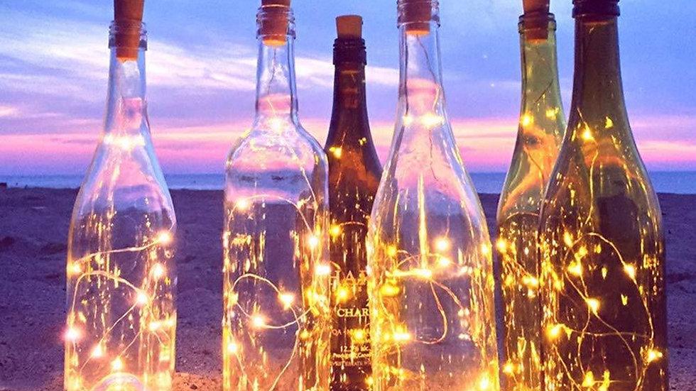 Flaschenlicht, 6 Stk, Warmweiß