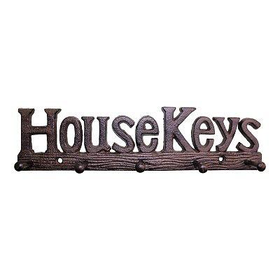 Rustic Cast Iron Wall Hooks, House Keys