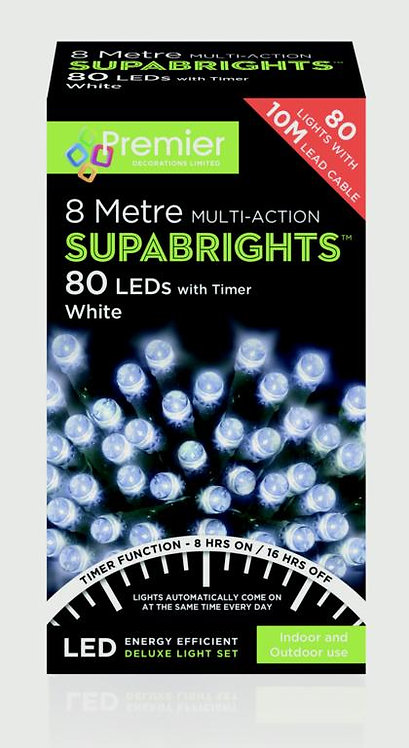 Premier 80 LED Multi Action Supabrights With Timer