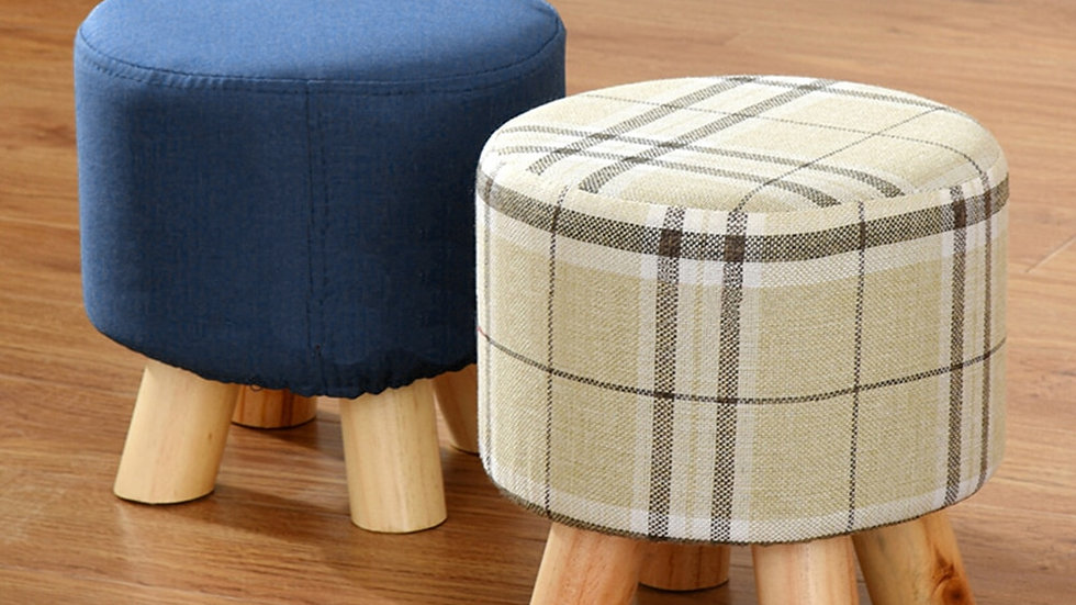 Round Stool Creative Solid Wood Thickened