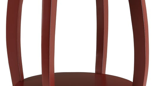 Red Solid Wood Leg Side Table