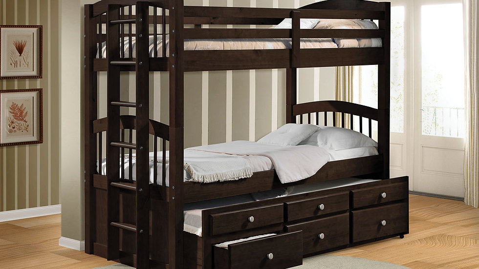 Twin Over Twin Espresso Bunk Bed