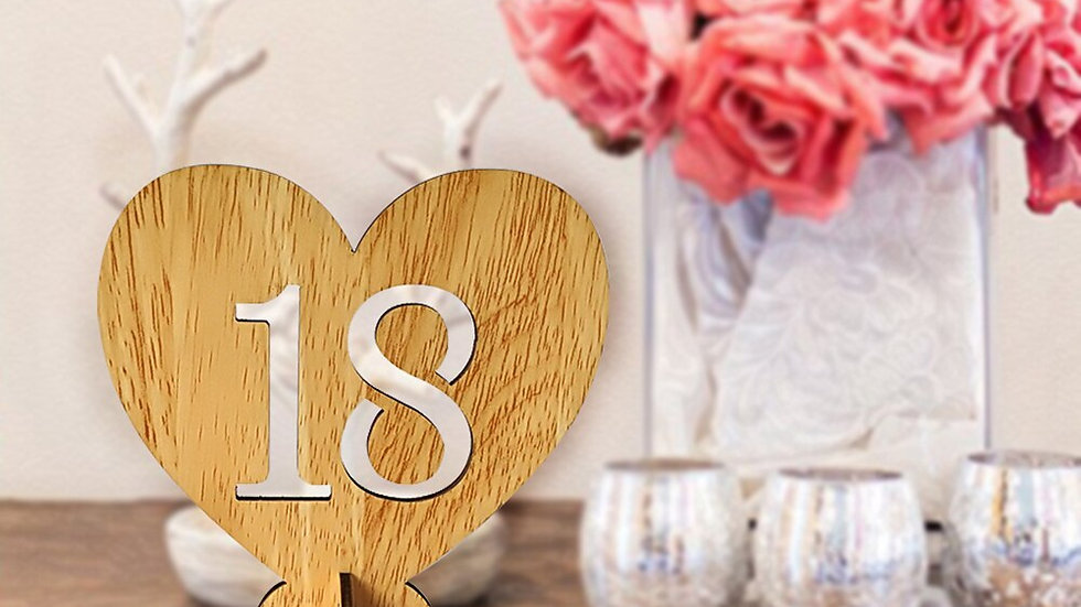 20pcs 1 20 Wooden Table Numbers with Holder Base
