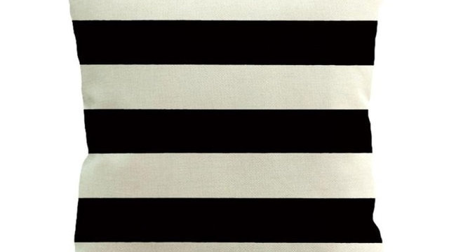 Stripe Painting Linen Cushion Cover Throw Pillow
