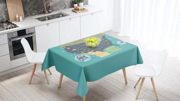 USA Map Art USA Decor Tablecloth Rectangle
