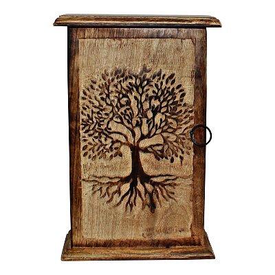 """Tree of Life"" Hand Carved Key Box"