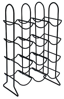 Black Metal 12 Bottle Wine Rack