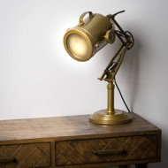 Brass Industrial Adjustable Spot Light Lamp