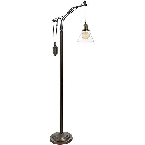 Hudson Adjustable Industrial Floor Lamp